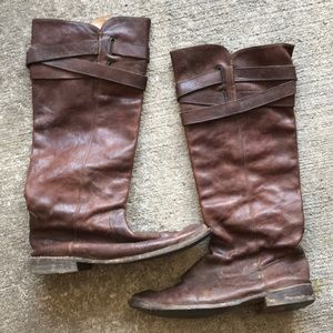 Frye Brown leather riding boots sz 8